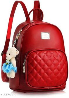 Backpacks TRENDY BACKPACK FOR GIRLS AND WOMENS Material: PU No. of Compartments: 2 Pattern: Solid Multipack: 1 Sizes: Free Size (Length Size: 15 in) Country of Origin: India Sizes Available: Free Size *Proof of Safe Delivery! Click to know on Safety Standards of Delivery Partners- https://ltl.sh/y_nZrAV3  Catalog Rating: ★3.9 (2573)  Catalog Name: Voguish Classy Women Backpacks CatalogID_868576 C73-SC1074 Code: 282-5771821-