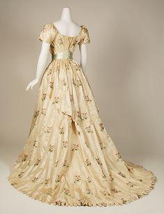 Dress, Evening  House of Worth  (French, 1858–1956)  Date: 1905–8 Culture: French Medium: silk, metallic thread