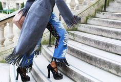 Street Style Trend to Watch: Patchwork Jeans