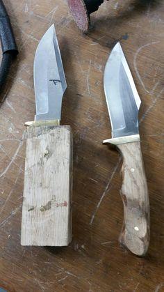 Forging Knives, Forged Knife, Tactical Knives, Knife Handle Making, Knife Making, Home Made Knives, Knife Template, Diy Knife, Neck Knife