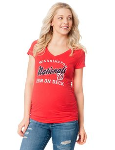 Washington Nationals MLB Short Sleeve Maternity Graphic Tee | Motherhood Maternity