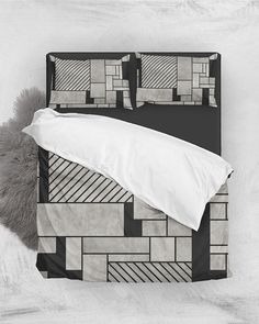 Random Concrete Pattern // Duvet Cover + Pillow Shams by Zoltan Ratko // This pattern design is also available as a wall art, apparel, tech and home product. Cover Pillow, Pillow Shams, Pillow Covers, Bed Pillows, Cozy Bedroom, Master Bedroom, Cement Texture, Geometric Pillow, Grey Bedding