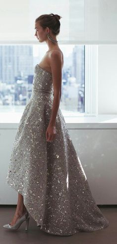 Oscar de la Renta wedding sparkle dress