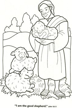 Free Bible Coloring Pages Lost Sheep. Sheep is one of the ruminants as a source of animal protein that is widespread in the community. Besides meat, sheep is also famous for producing wool. Preschool Bible, Bible Activities, Lord Is My Shepherd, The Good Shepherd, Sunday School Crafts, Sunday School Lessons, Free Bible Coloring Pages, Printable Coloring, Sunday School Coloring Pages