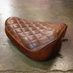 Sportster solo seat up for grabs, e-mail for prices. #harleydavidson#customseat#rideordie#leatherporn#bobber#chopper#
