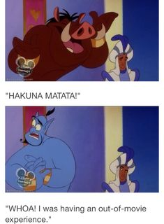 Lion King crossover lol. I love Genie so much
