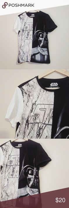 Star Wars Darth Vader Half & Half Mens T Shirt Excellent condition. | Unique Mens Star Wars Short Sleeve T. | Crew Neck Style. | Reminder - My prices are set to negotiate 💕 Shirts Tees - Short Sleeve