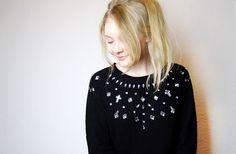 This Fashion is Mine: DIY Embellished Big Gem Jumper