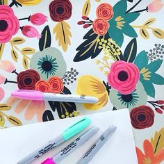 Invite the colors of spring into every project, like our fabulous fan @designsbymichaelann! From fine paper to pastel pens and so much more, Paper Source has a fresh spring collection blooming in stores and online! What's your favorite pattern for spring?