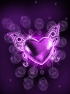 Free Moving Backgrounds | Free animated purple heart phone wallpaper by thejojo