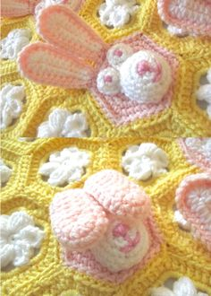 Crochet Easter Baby Blanket PDF PATTERN by TSBCrochetPatterns....squeeeeal this is too cute!