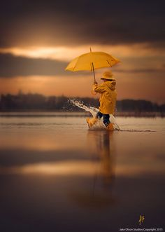 "Rain Rain Go Away by Jake Olson Studios. ""Rain pleases me. both the smell & the feel of rain. I even love the look of rain. Won't you join me, My Beloved? Poses Photo, Rain Go Away, Going To Rain, Love Rain, Singing In The Rain, Summer Rain, Jolie Photo, Rain Drops, Children Photography"
