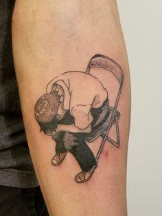 Shinji tattoo from Evangelion done by Evandavis in Nashville TN