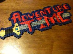 Adventure Time Perler Beads Logo