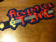 Adventure Time Perler Beads Logo