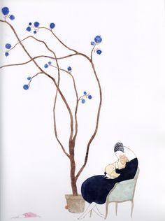 Elena Odriozola, ilustración para Un regalo del cielo, Anaya, 2007