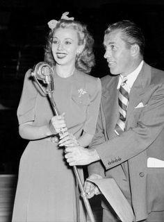 Carole Landis and Ed Sullivan