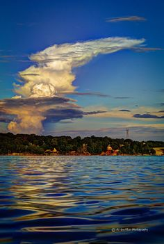 Our Eyes Upon Missouri: Clouds, Hills, and Water at Lake of the Ozarks. Al Griffin Photography.