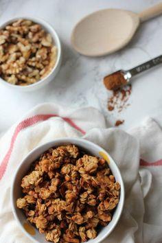 Cinnamon Applesauce Granola