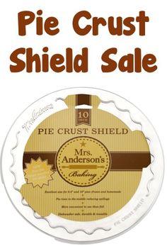Baking Pie Crust Shield Sale: $4.99! {I LOVE using mine when making pies!}