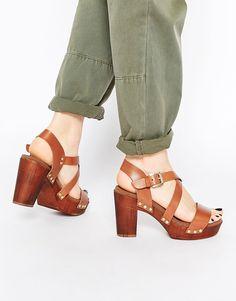 Dune Tan Jaxon Leather Heeled Sandals