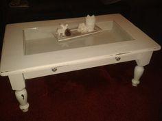 Tisch mit Dekoschublade shabby