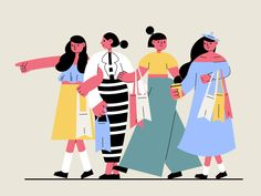 """""""Liking these illustrations by 伍陆柒. More nice pics on Dribble here:"""" Simple Illustration, Illustration Girl, Character Illustration, Graphic Design Illustration, Digital Illustration, Ui Ux Design, Girls Characters, Art Graphique, Illustrations Posters"""