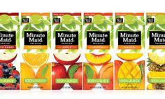 Minute Maid Packaging Design Across Multiple Fruit Flavors