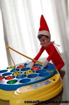 Elf going fishin'! :) HUGE List of Elf on the Shelf (part 5)