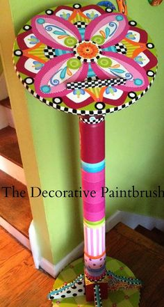 The Decorative Paintbrush, Designs by Mary Mollica: A Jazzed-Up Speaker's Podium