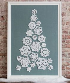 Crochet Me Lovely — redheartyarns: LW4860 Tree of Snowflakes Free...