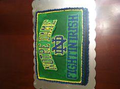Notre dame fighting Irish cake