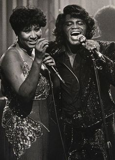 Aretha Franklin & James Brown: The Queen & the Godfather of Soul James Brown, Aretha Franklin, Stevie Wonder, Bruce Springsteen, Soul Musik, Rock And Roll, New School Hip Hop, Photo Star, Old School Music