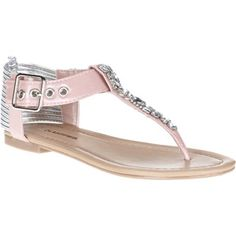 Womens Go Bling Dress Flat Sandals