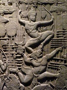 Angkor Vat, Spiritual Warrior, Hanuman, Muay Thai, Southeast Asia, Lion Sculpture, Statue, Plaster, Hui