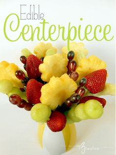 how to make an edible fruit arrangement at my3monsters.com
