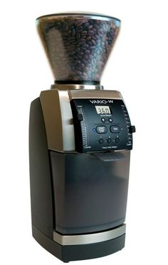 Vario-W Coffee Grinder by Baratza is a groundbreaking and improved version of Baratza's most popular coffee grinder, the Vario. Instead of being time-based, the Vario-W is a fully integrated weight-based grinder, using real-time grinding with a built-in electronic scale. You simply select the set weight you want and the Vario-W does the rest, weighing the ground coffee to within +/- 0.2 g while grinding, and stopping automatically.