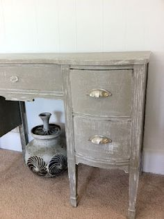 Annie Sloan Chalk Paint in French Linen - might take this to India and paint some things like this
