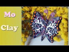▶ DIY Butterfly Polymer Clay tutorial. Facile Farfalla - Arcillas Poliméricas: Mariposa - YouTube                                                                                                                                                                                 Más