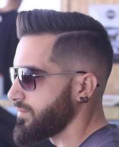 Cool Haircuts, Haircuts For Men, 2018 Haircuts, Short Fade Haircut, Mens Fade Haircut, Mens Hair, Hair Toupee, Mens Toupee, Beard Haircut
