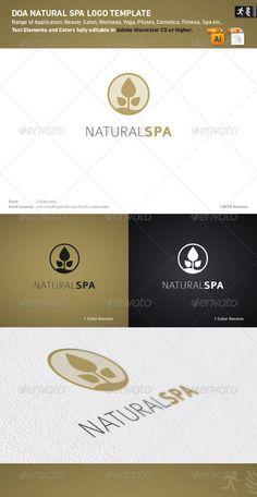 DOA Natural Spa Logo Template @GraphicRiver.com