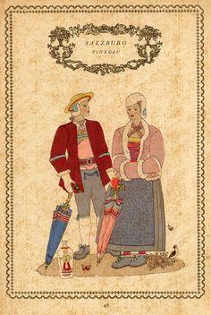 Tirol 48 Austria, Folk Costume, Costumes, Salzburg, Regional, Switzerland, Transportation, Germany, Painting