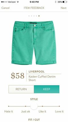 Liverpool Kaiden Cuffed Denim Short - $58.00
