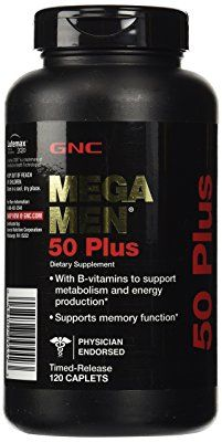 GNC Mega Men 50 Plus Daily Multivitamin for Men, 120 Count, Supports Memory Function, Prostate, and Heart Health Healthy Aging, Healthy Tips, Healthy Recipes, Best Multivitamin For Men, Easy Cake Recipes, Cheap Recipes, Brownie Recipes, Fish Recipes, Daily Vitamins