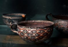 Minoan Kamares eggshell ware cup from Phaistos, 2100 BCE click the image for more details. Ceramic Cups, Ceramic Pottery, Ceramic Art, Creta, Minoan Art, Bronze Age Civilization, Ancient Greek Art, Mycenaean, Iron Age