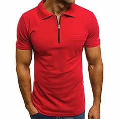 Golf Tee Shirts, Short Sleeve Polo Shirts, Camisa Polo, Polo Neck Mens, Business Casual Men, Men Casual, Casual Tops, Polos Tommy Hilfiger, Polos Lacoste