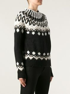 MONCLER - fair isle knit sweater 8