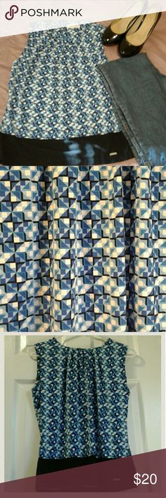 Beautiful shirt Calvin Klein Calvin Klein shirt. Size S. Patern squares. Blue and withe. Calvin Klein Tops Blouses