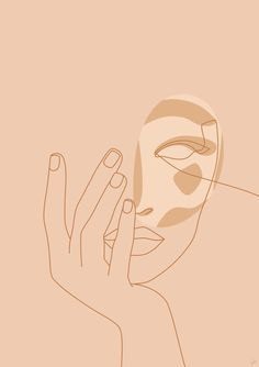 Aesthetic Iphone Wallpaper, Aesthetic Wallpapers, Art And Illustration, Illustrations Posters, Minimal Art, Abstract Face Art, Face Sketch, Line Art, Aesthetic Art