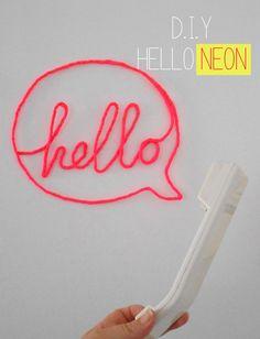 DIY Neon fabric sign <3